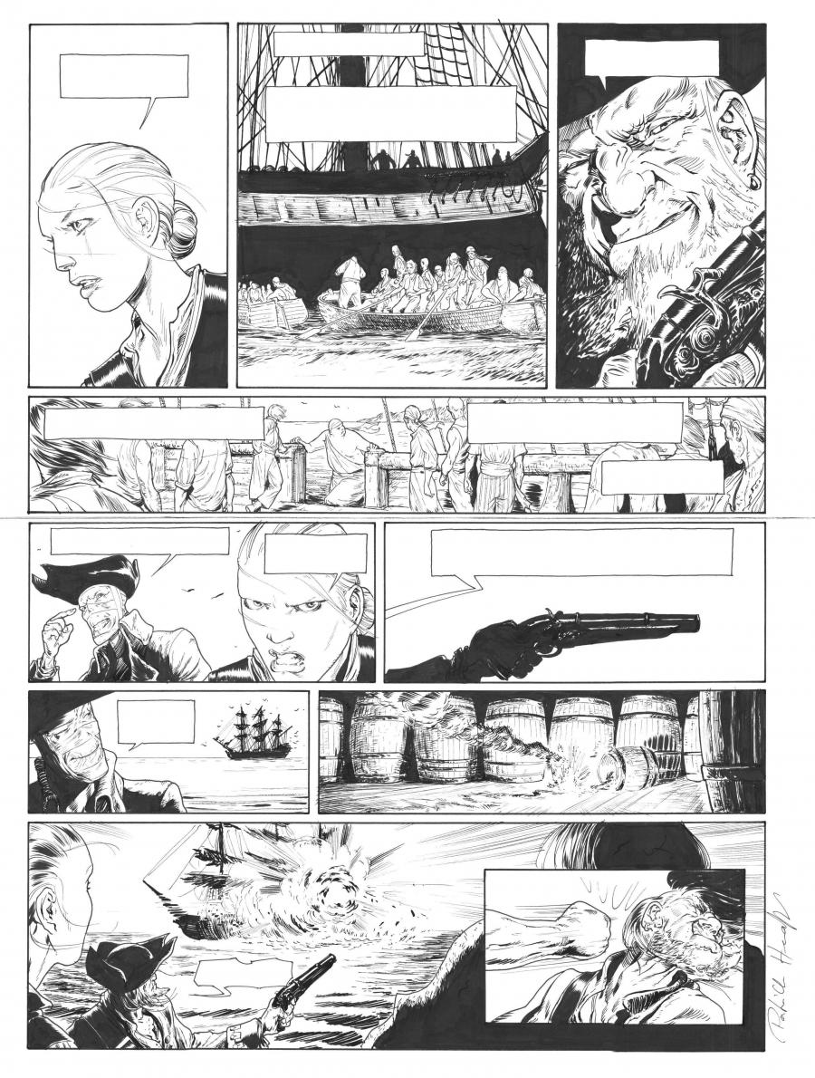 Original comic page 45 of Testament du capitaine Crown issue 1 by PAtrick HENAFF