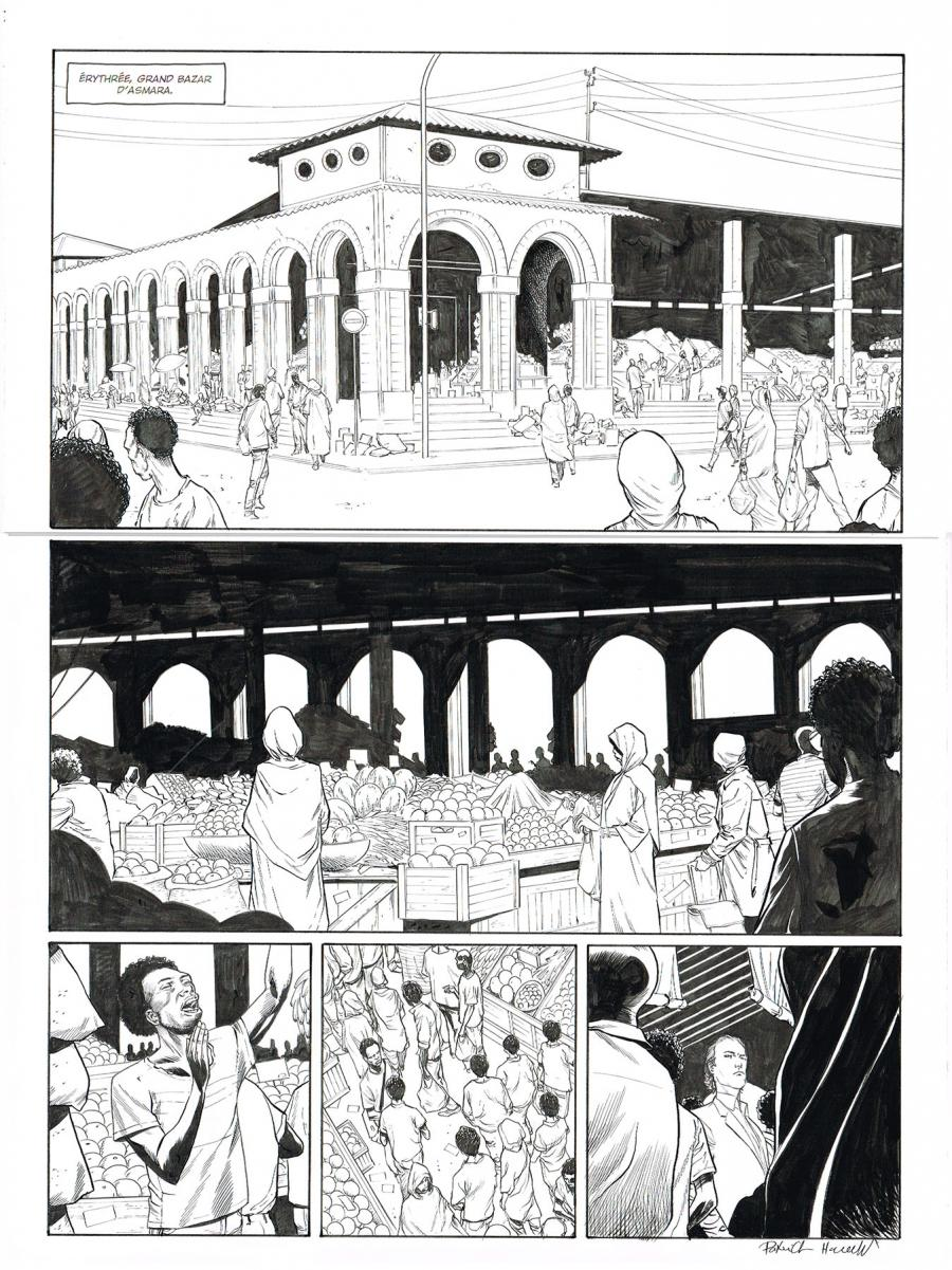 Original comic page 1 of HEDGE FUND Issue 5 -  Mort au comptant  by Patrick HENAFF