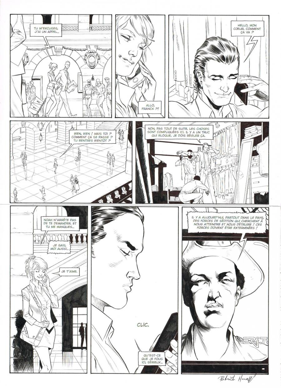 Original comic page13 of HEDGE FUND Issue 5 -  Mort au comptant  by Patrick HENAFF