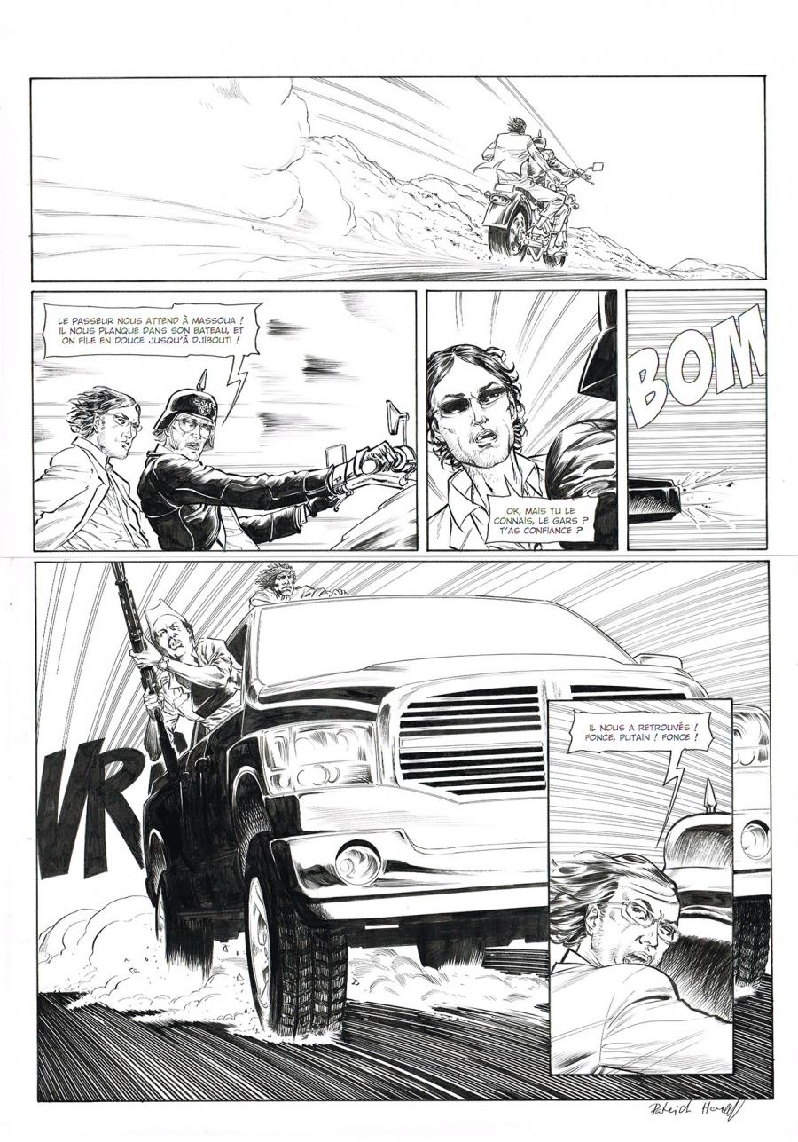Original comic page 35 of HEDGE FUND Issue 5 -  Mort au comptant  by Patrick HENAFF