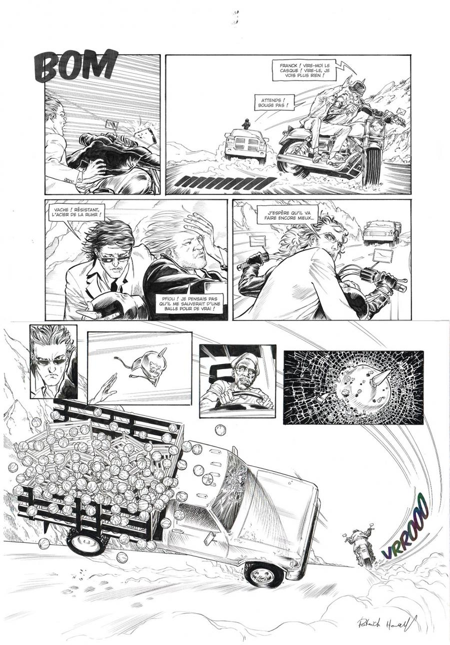 Original comic page 37 of HEDGE FUND Issue 5 -  Mort au comptant  by Patrick HENAFF