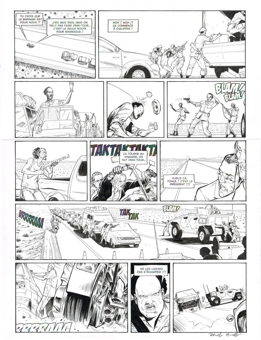 Original comic page 40 of HEDGE FUND Issue 5 -  Mort au comptant  by Patrick HENAFF