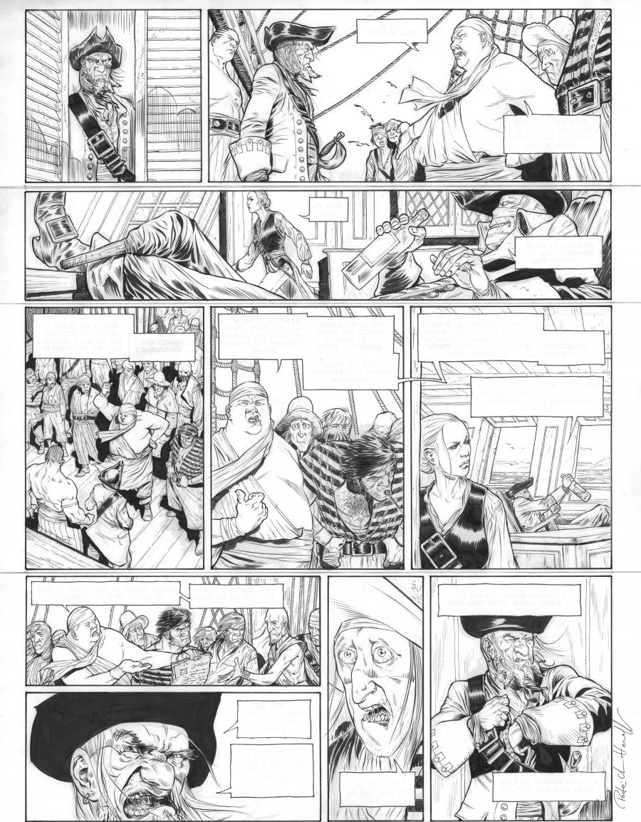 Original comic page 12 of Le testament du Capitain Crown Issue 1 by Patrick HENAFF
