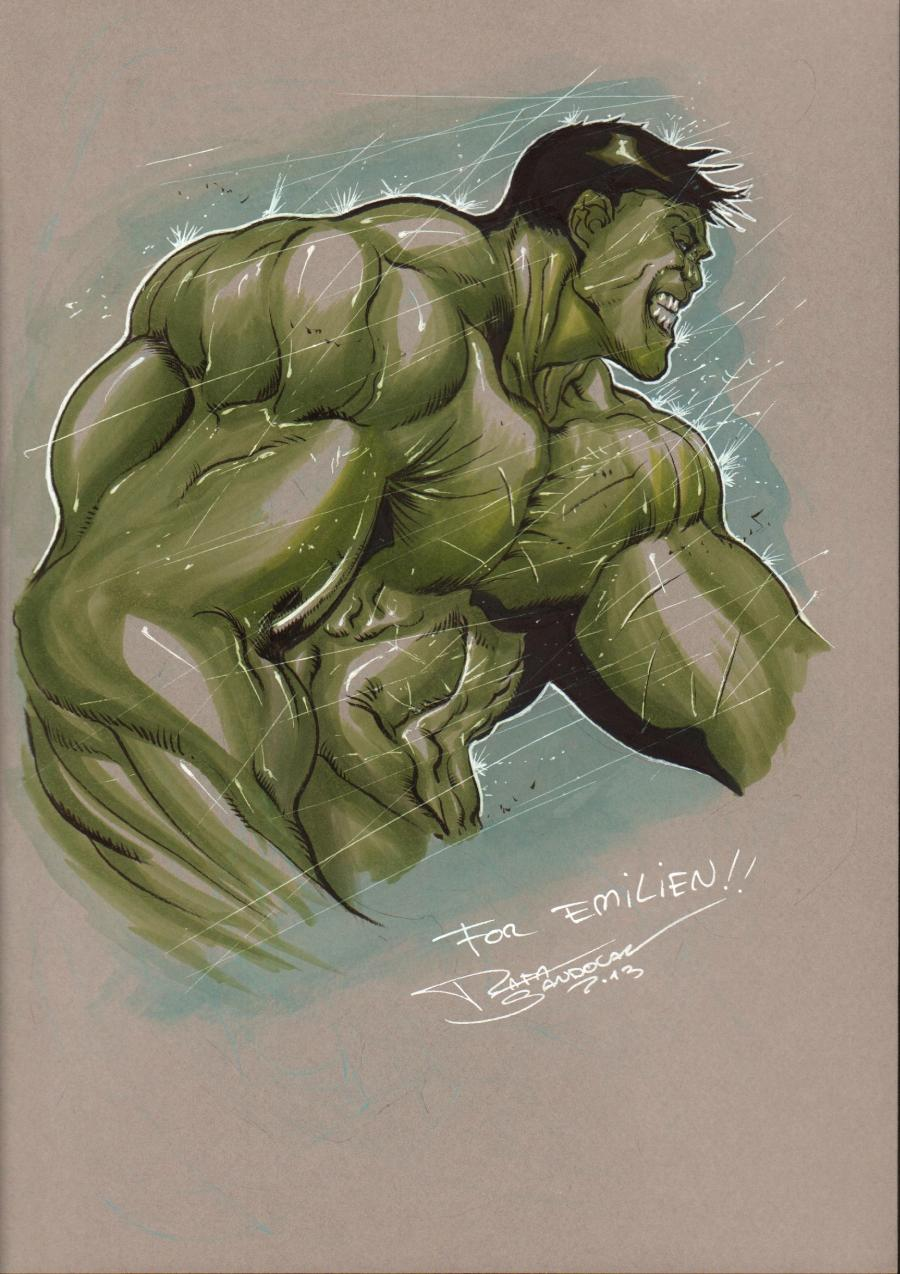 Illustration HULK par Rafa SANDOVAL