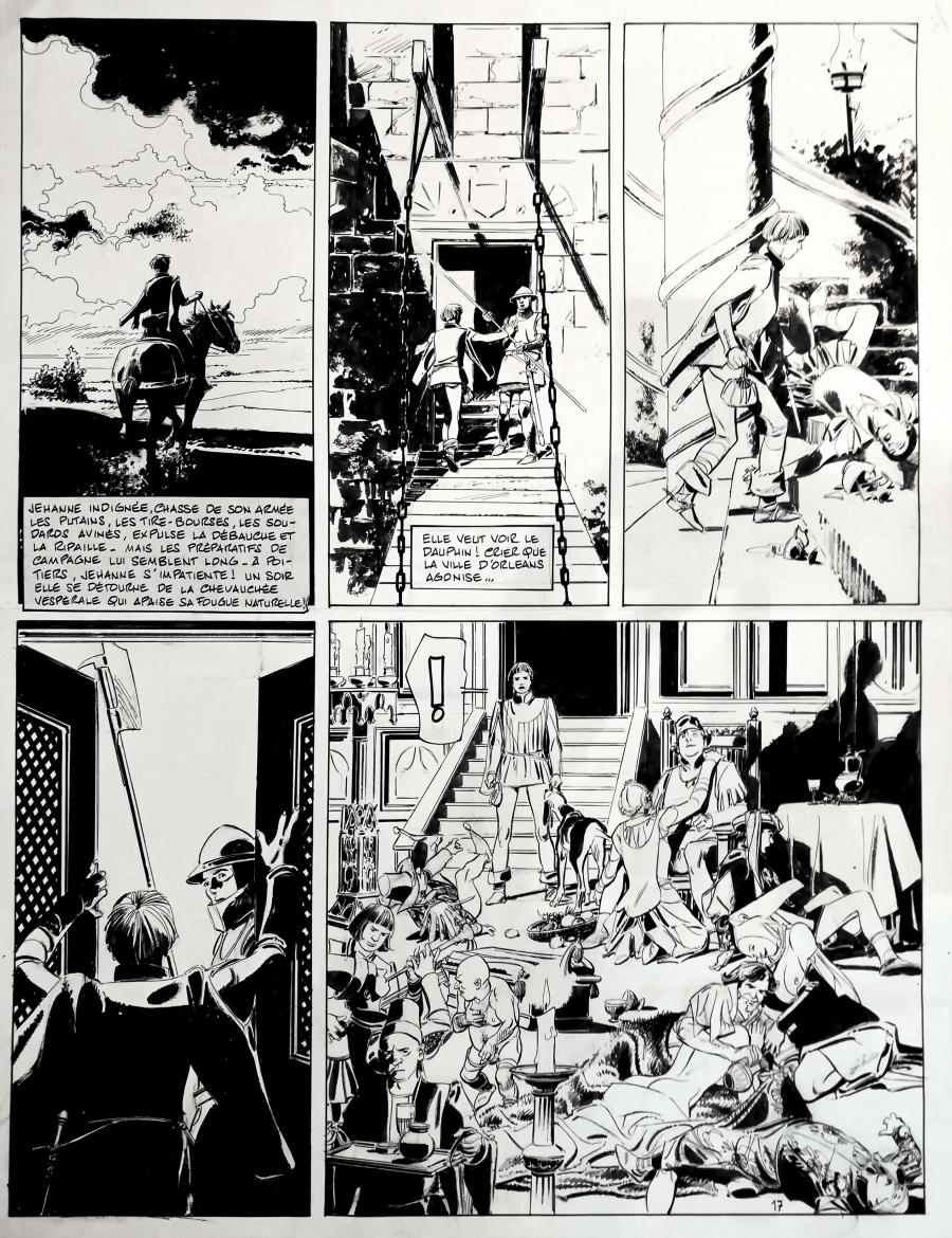 Original comic page 17 from JEHANNE by Paul GILLON