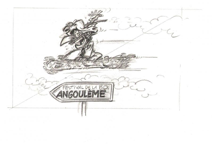 Original illustration from IZNOGOUD for the Angoulême festival