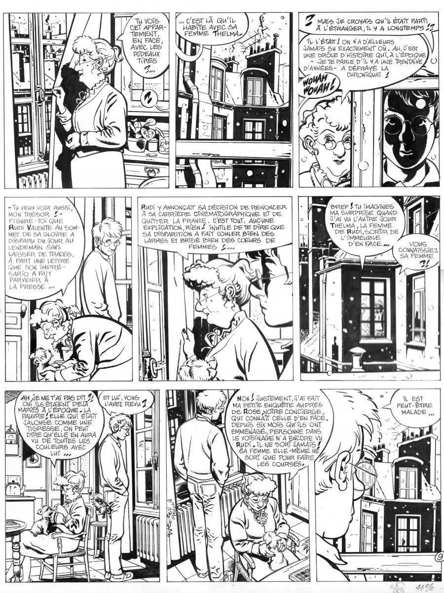 Original comic page 9 from Jérôme k. Jérôme Bloche issue 6 by Alain DODIER