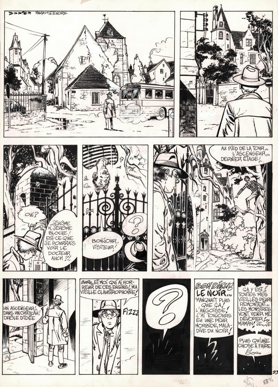 Original comic page 23 from JEROME K JEROME BLOCHE Issue 1 by Alain DODIE