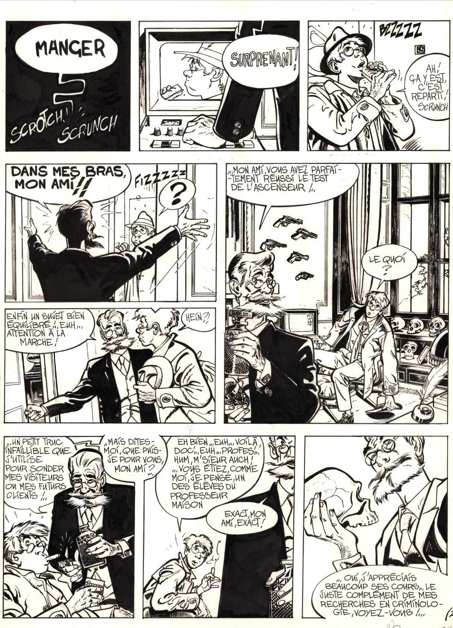 Original comic page 24 from JEROME K JEROME BLOCHE Issue 1 by Alain DODIE