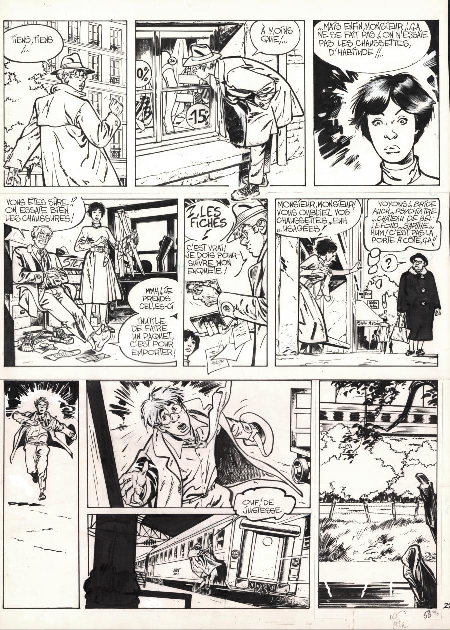Original comic page 22 from JEROME K JEROME BLOCHE Issue 1 by Alain DODIE