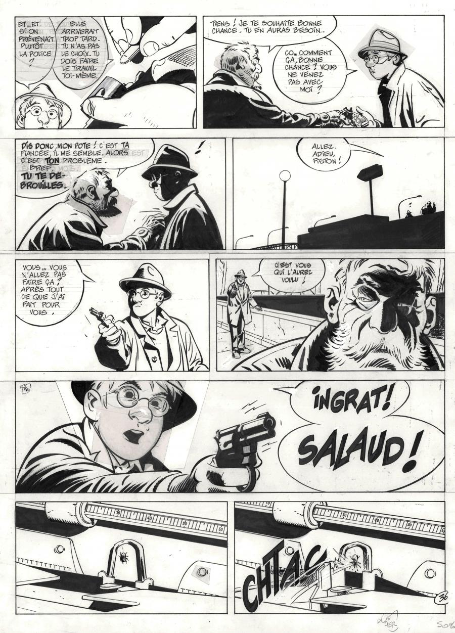 Original comic page 36 from Jérôme K. Jérôme Bloche Issue 11 by Alain DODIER