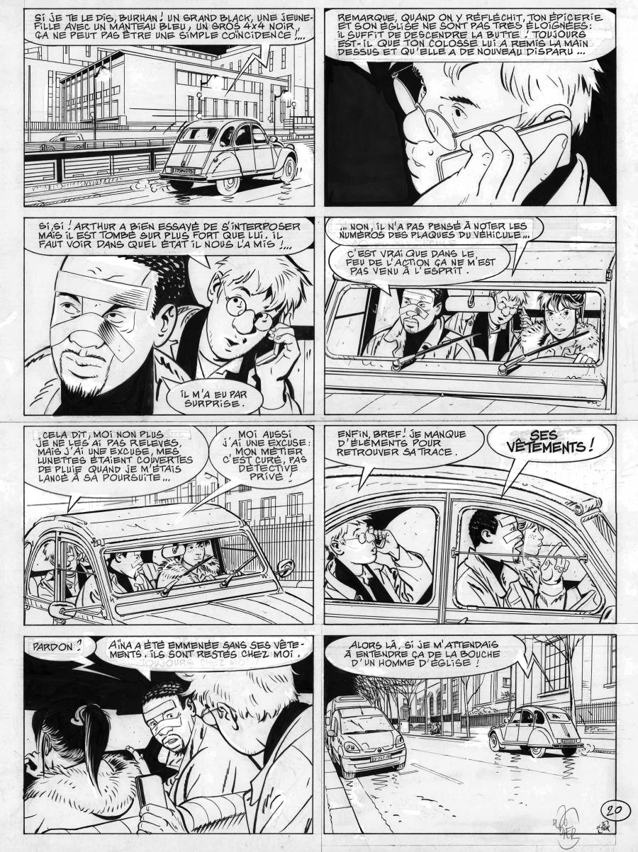 Original comic page 20 from Jérôme K. Jérôme Bloche Issue 25 by Alain DODIER