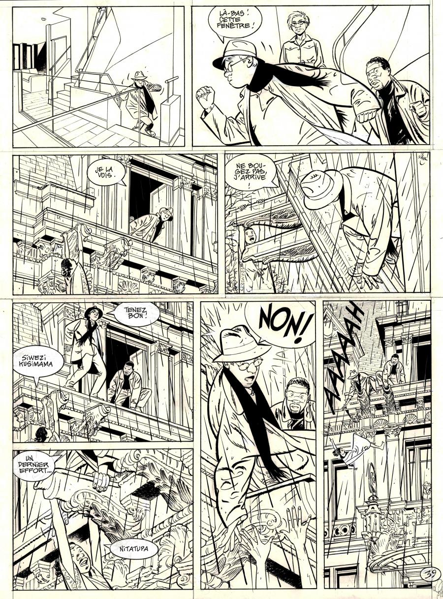 Original comic page 39 from Jérôme K. Jérôme Bloche Issue 25 by Alain DODIER