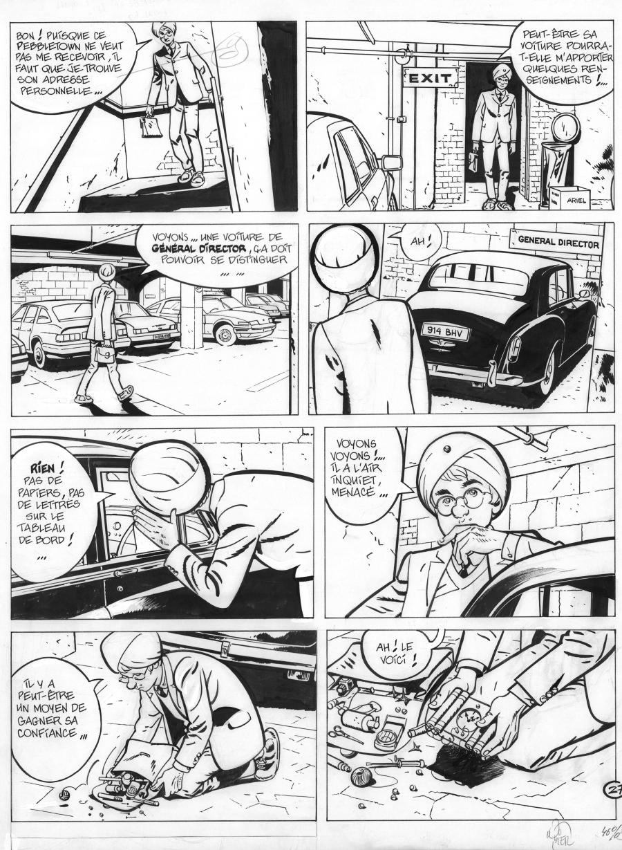 Original comic page 27 from Jérôme K. Jérôme Bloche Issue 5 by Alain DODIER