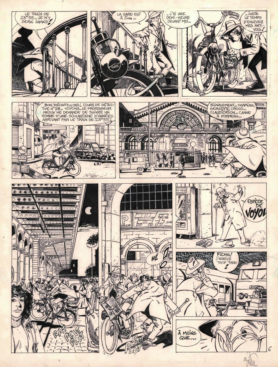 Original comic page 6 from Jérôme K. Jérôme Bloche Issue 1 by Alain DODIER