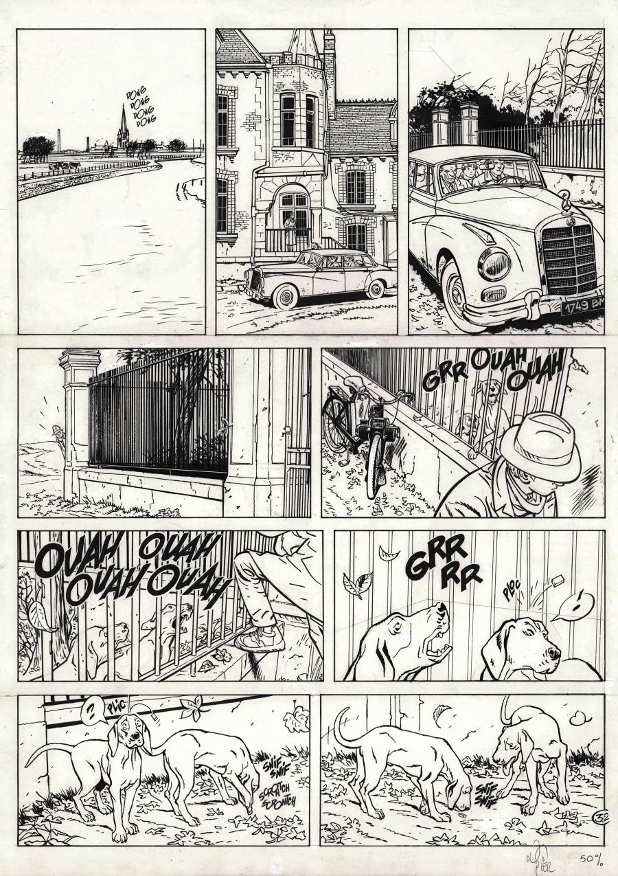 Original comic page 32 from Jérôme K. Jérôme Bloche Issue 8 by Alain DODIER