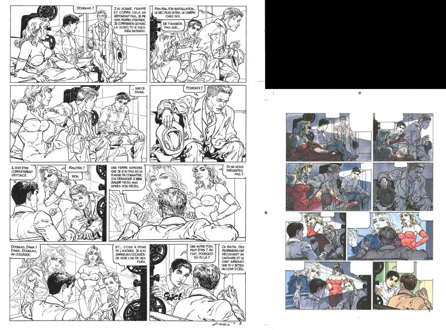 Planche originale 3 de Halloween Blues tome 7 Remake par KAS