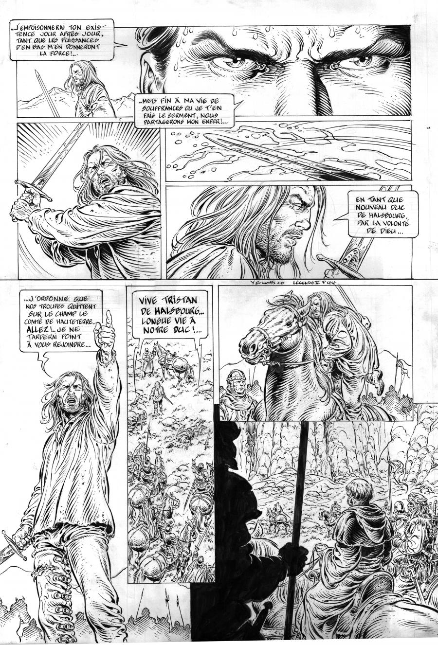 Original comic page 44 from LÉGENDE Issue 5 by Yves SWOLFS