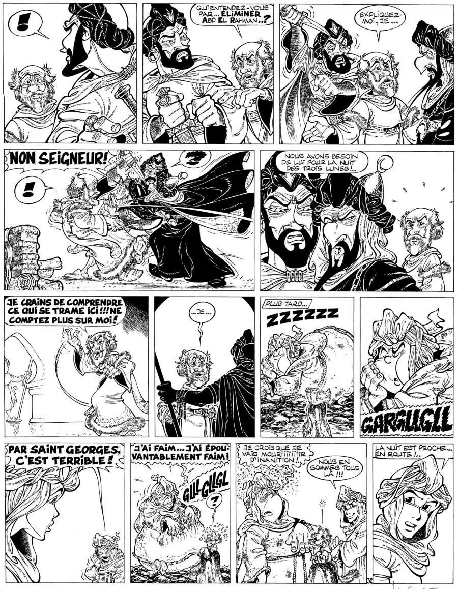 Original comic page 32 from Percevan issue 10 Le Maitre des Etoiles by Philippe LUGUY