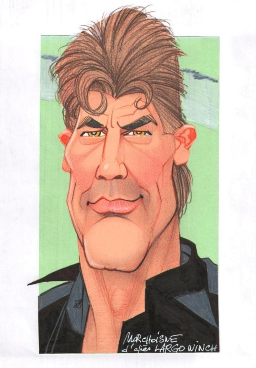 MORCHOISNE's original penciled art - Largo Winch
