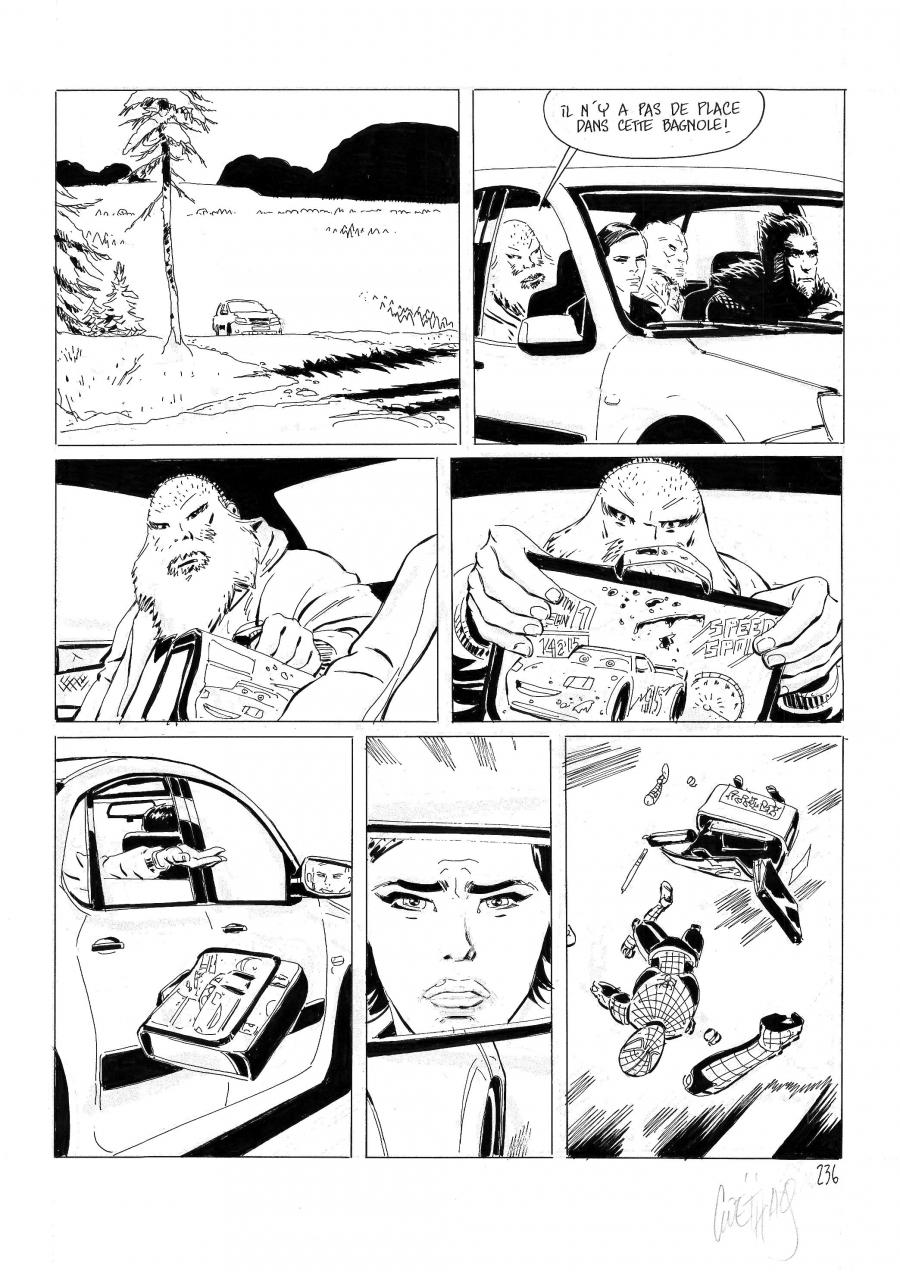 Original comic page 236 of LE TEMPS DES SAUVAGES by Sébastien GOETHALS