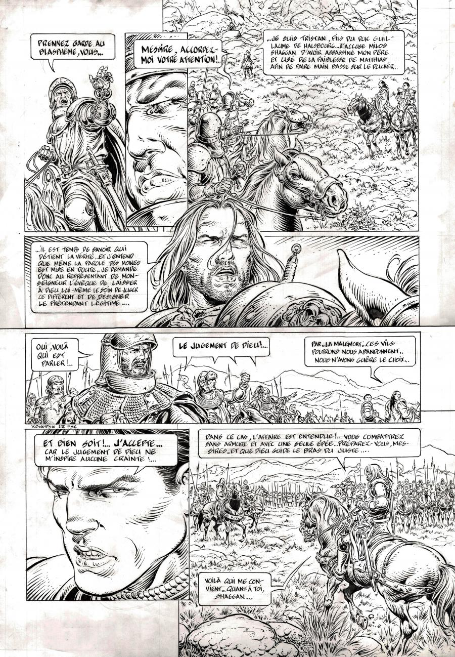 Original comic page 36 from LÉGENDE Issue 5 by Yves SWOLFS