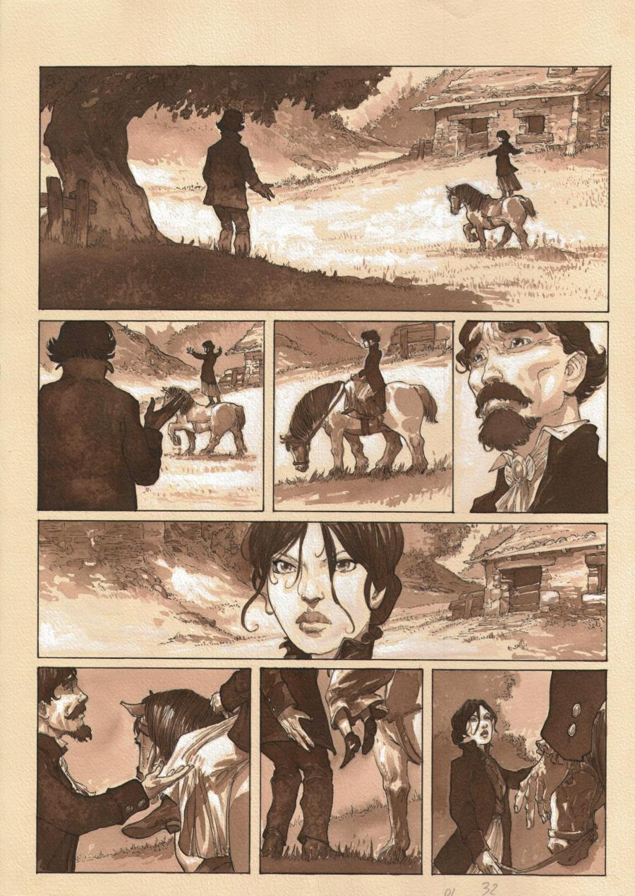 Original comic page 32 from Snow White by Fabrice MEDDOUR