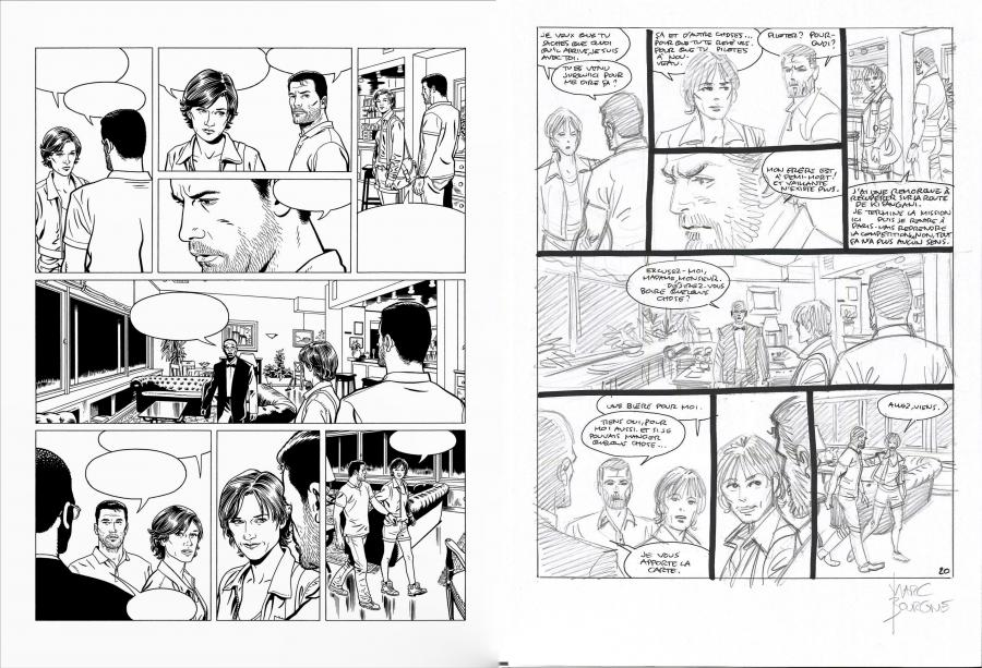 Original comic page 20 Issue 71 Renaissance Issue 5 new season Michel VAILLANT by Marc Bourgne