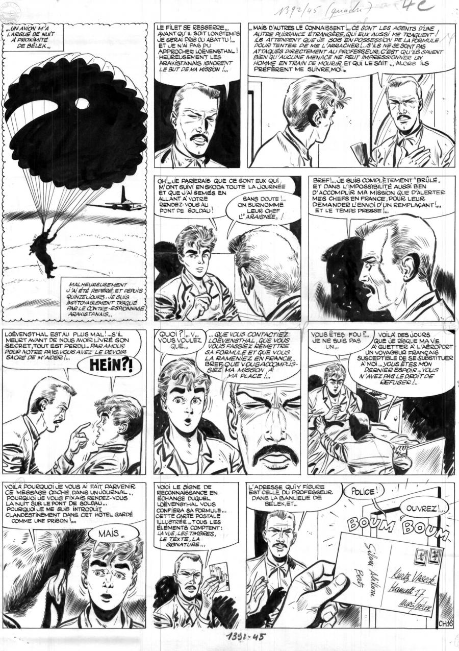 Original comic page 16 Issue 11 of MARC DACIER Chasse à l'Homme by Eddy PAAPE