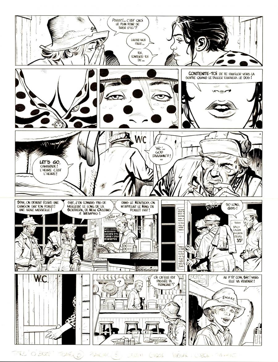 Original comic page 5 from O'BOYS Issue 3 - Midnight Crossroad par Steve CUZOR