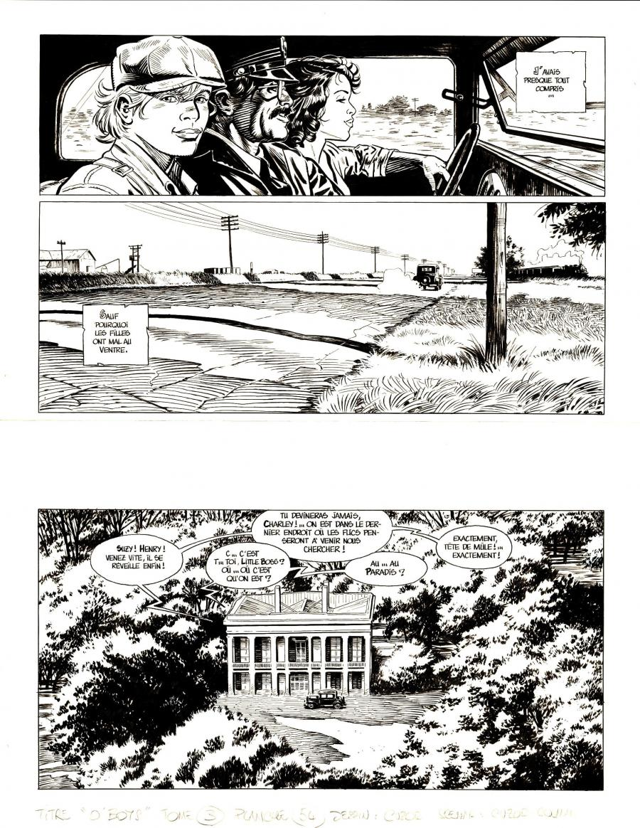 Original comic page 54 from O'BOYS Issue 3 - Midnight Crossroad par Steve CUZOR