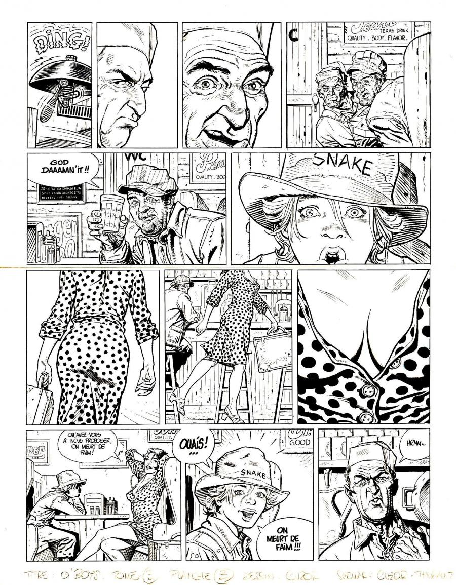 Original comic page 3 from O'BOYS Issue 3 - Midnight Crossroad par Steve CUZOR