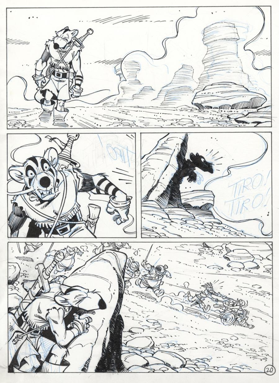 Original comic art 20 of SOLO issue 1 part 1 by Oscar MARTIN