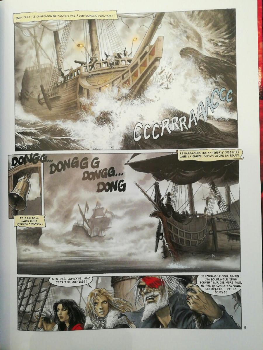 Original comic page from BARRACUDA issue 6 by JEREMY