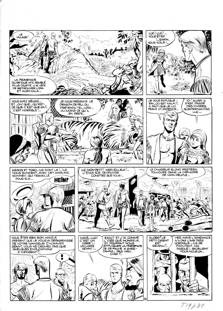 Original Comics illustration, Napoleon Gallery : LUC ORIENT - Eddy Paape's LUC ORIENT original comic page 39 issue 1 - 39