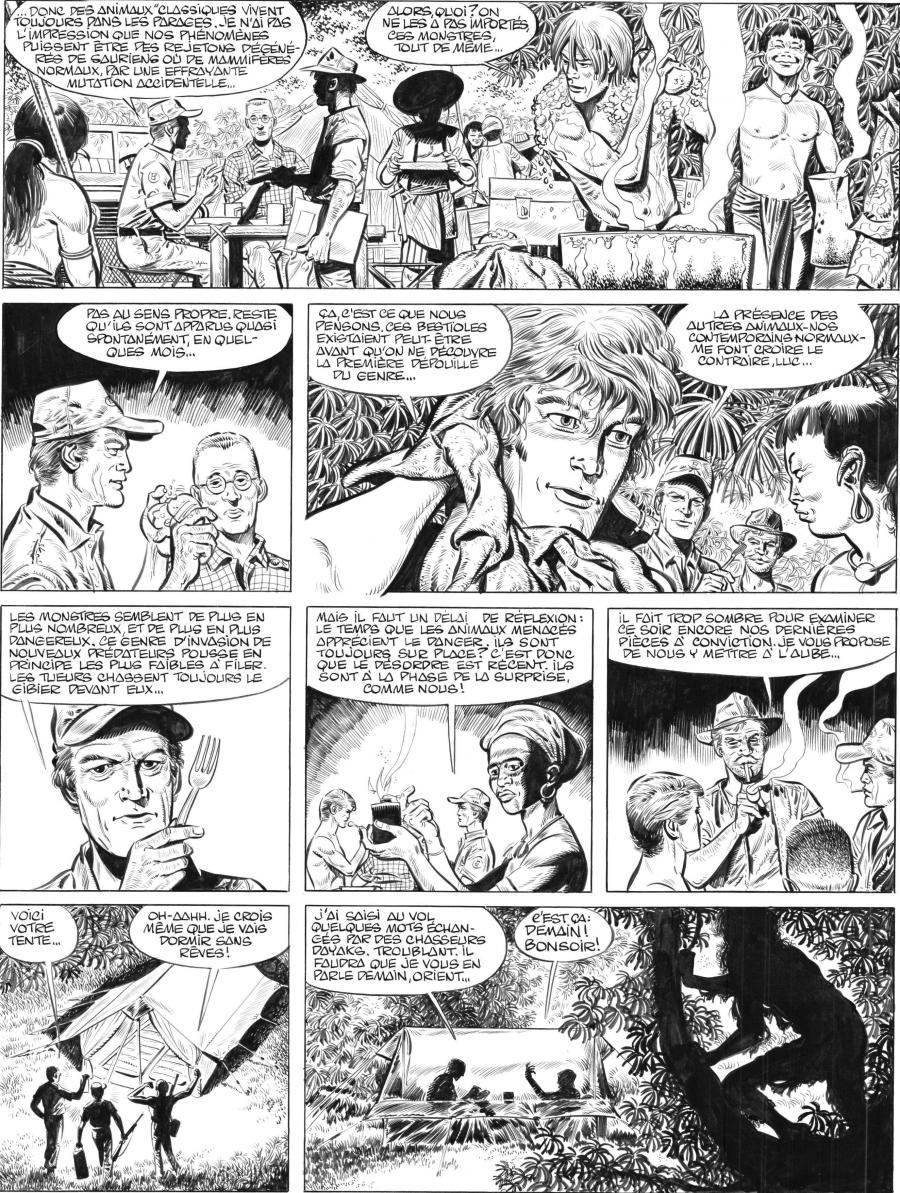 PAAPE's original comic art 13 from LUC ORIENT issue 11