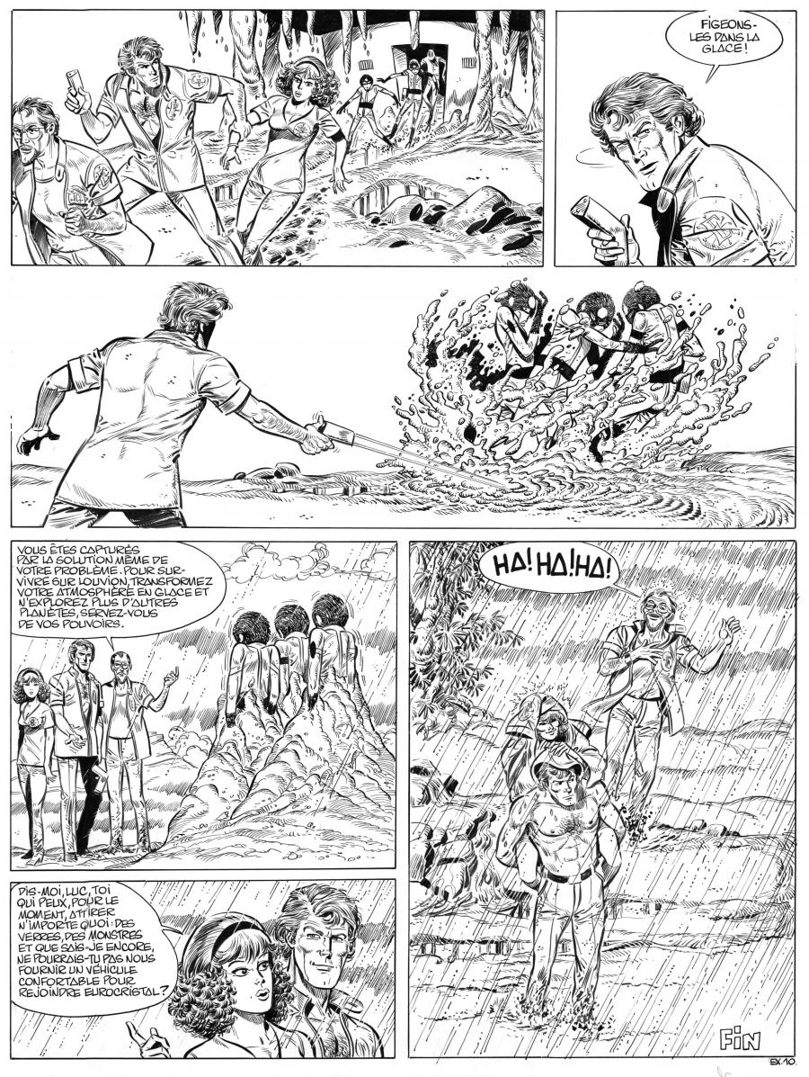 LUC ORIENT's original comic art 10 by PAAPE