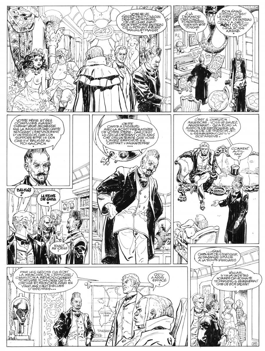 Original comic art 29 from Le Méridien des Brumes by Antonio PARRAS