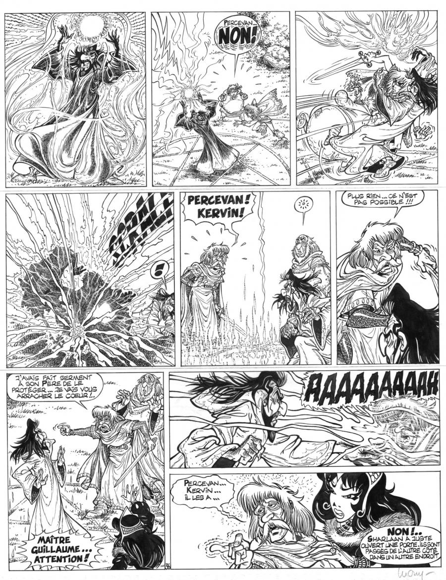 Original  comic page 36 Issue 15 from Percevan Le huitième royaume by Philippe LUGUY