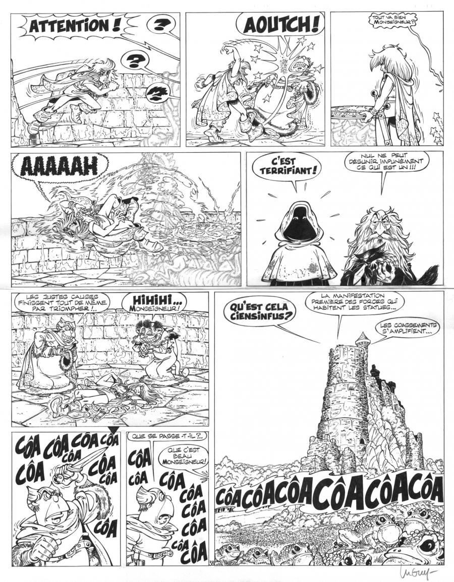 Original Comics illustration, Napoleon Gallery : LEGENDS OF PERCEVAN - Original comic page 38 Issue 6 Percevan Les clés de feu  by Philippe LUGUY - 38