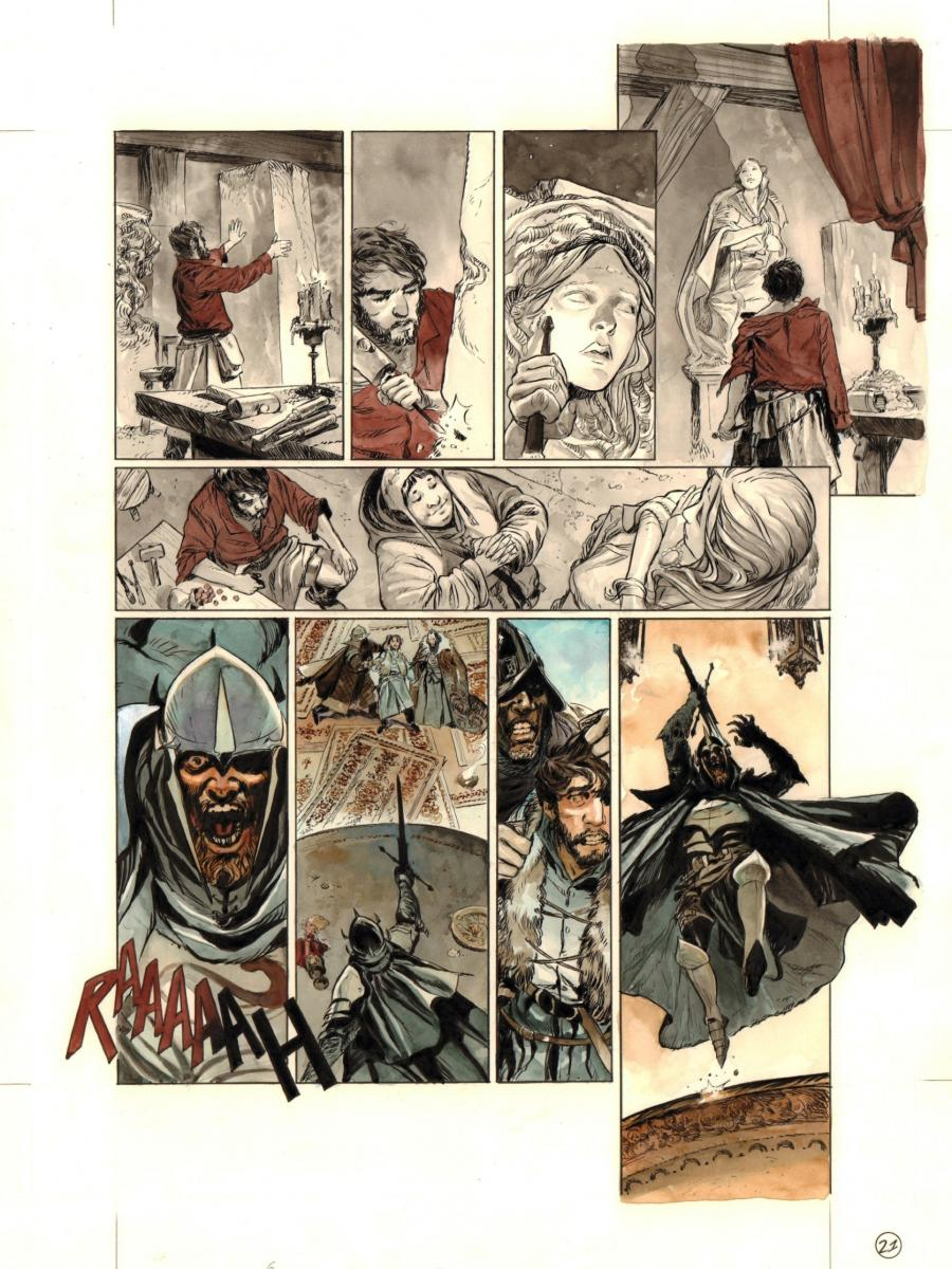Original comic art from GALKIDDEK by Paolo GRELLA page 21