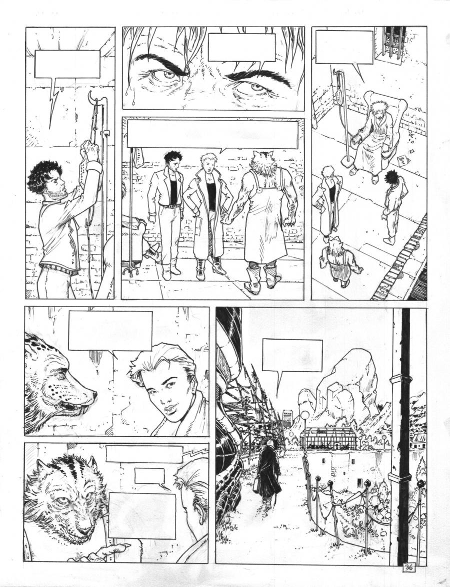 Original Comics illustration, Napoleon Gallery : DAKOTA - Original comic page 36 issue 2 DAKOTA  by ADAMOV - 36