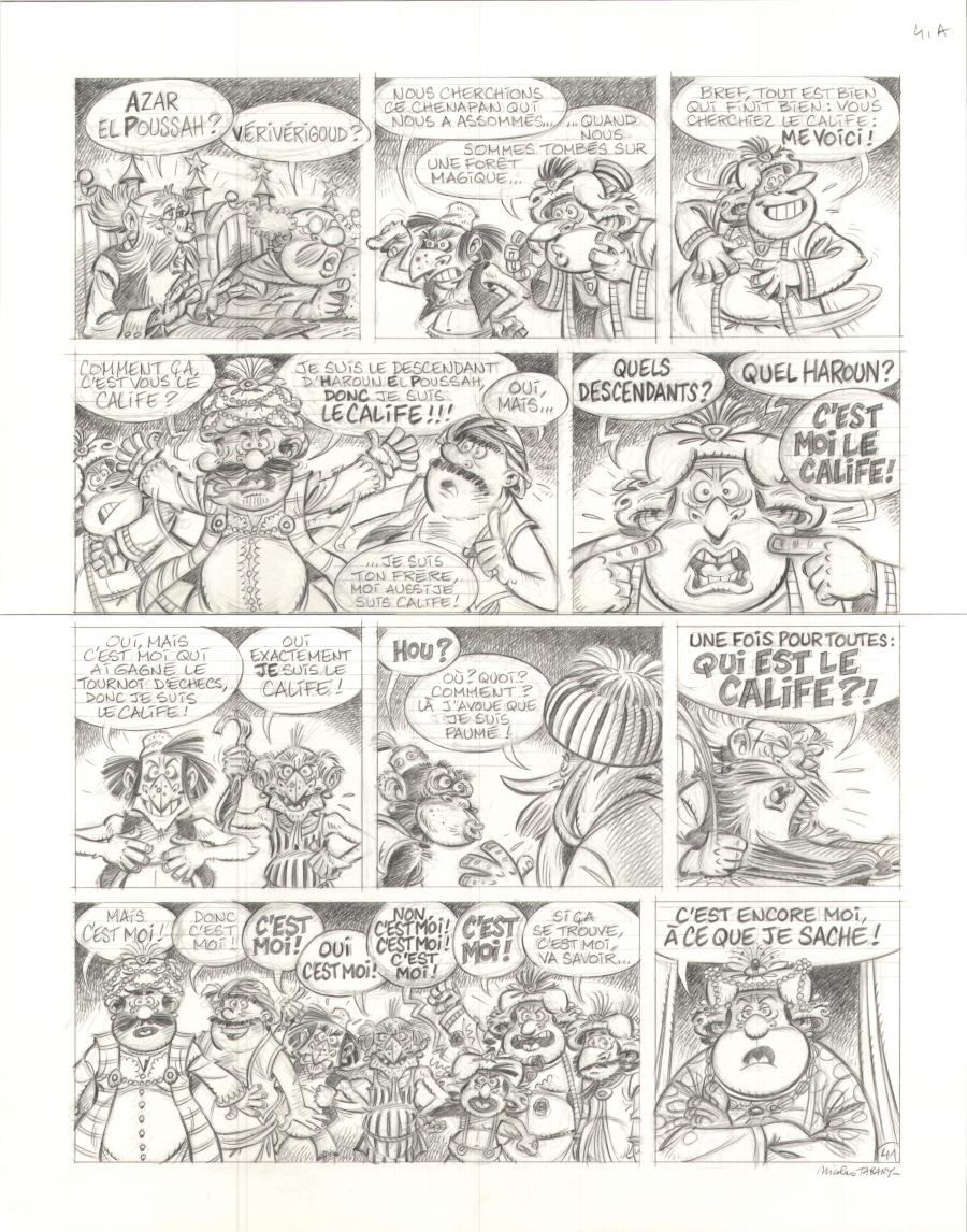 Original Comics illustration, Napoleon Gallery : IZNOGOUD - Original comic page 41 of IZNOGOUD De Père en Fils by Nicolas TABARY - 41