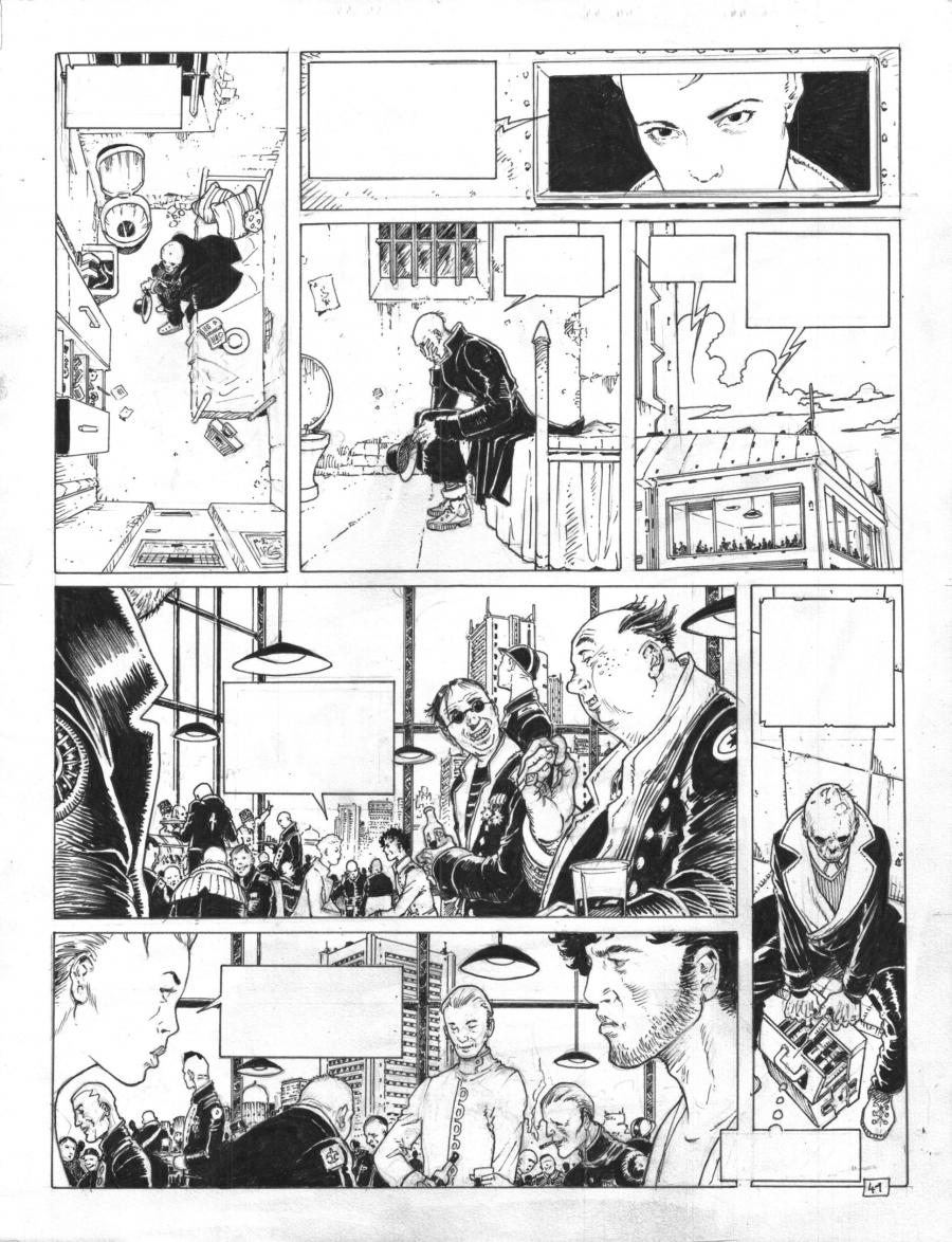 Original Comics illustration, Napoleon Gallery : DAKOTA - Original comic page 41 issue 2 DAKOTA  by ADAMOV - 41