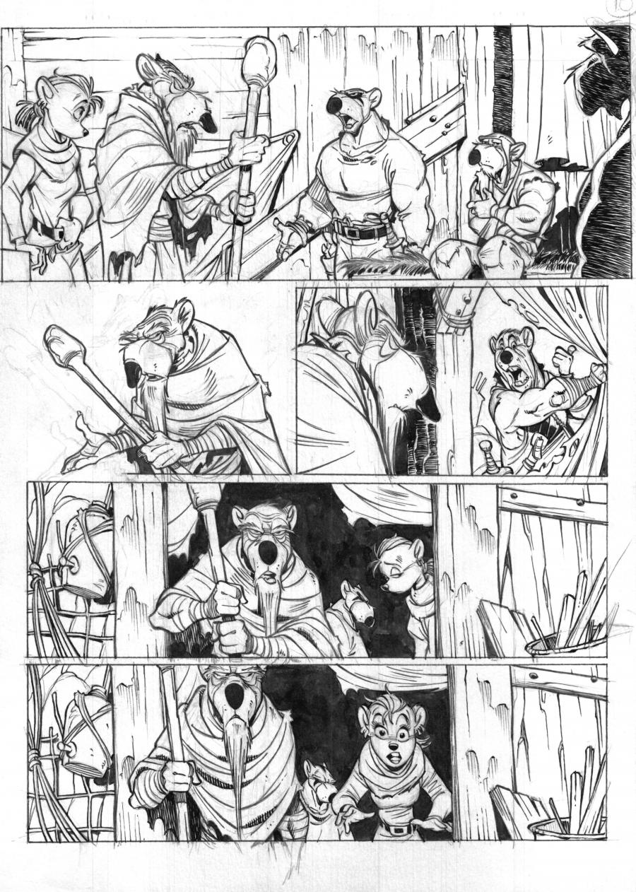 SOLO Original Comic's page 12 Issue 2 by Oscar Martin