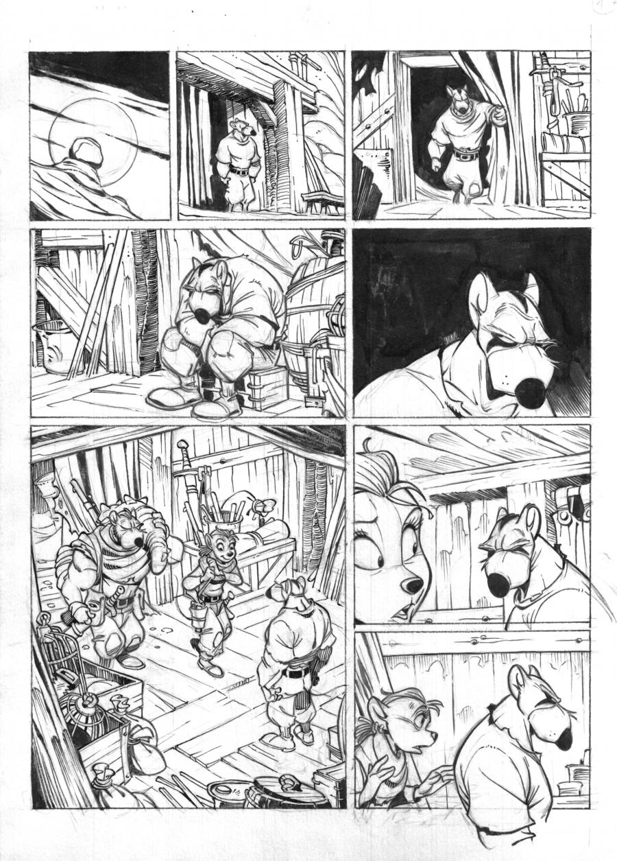 SOLO Original comic's page 19 Issue 2 by Oscar MARTIN