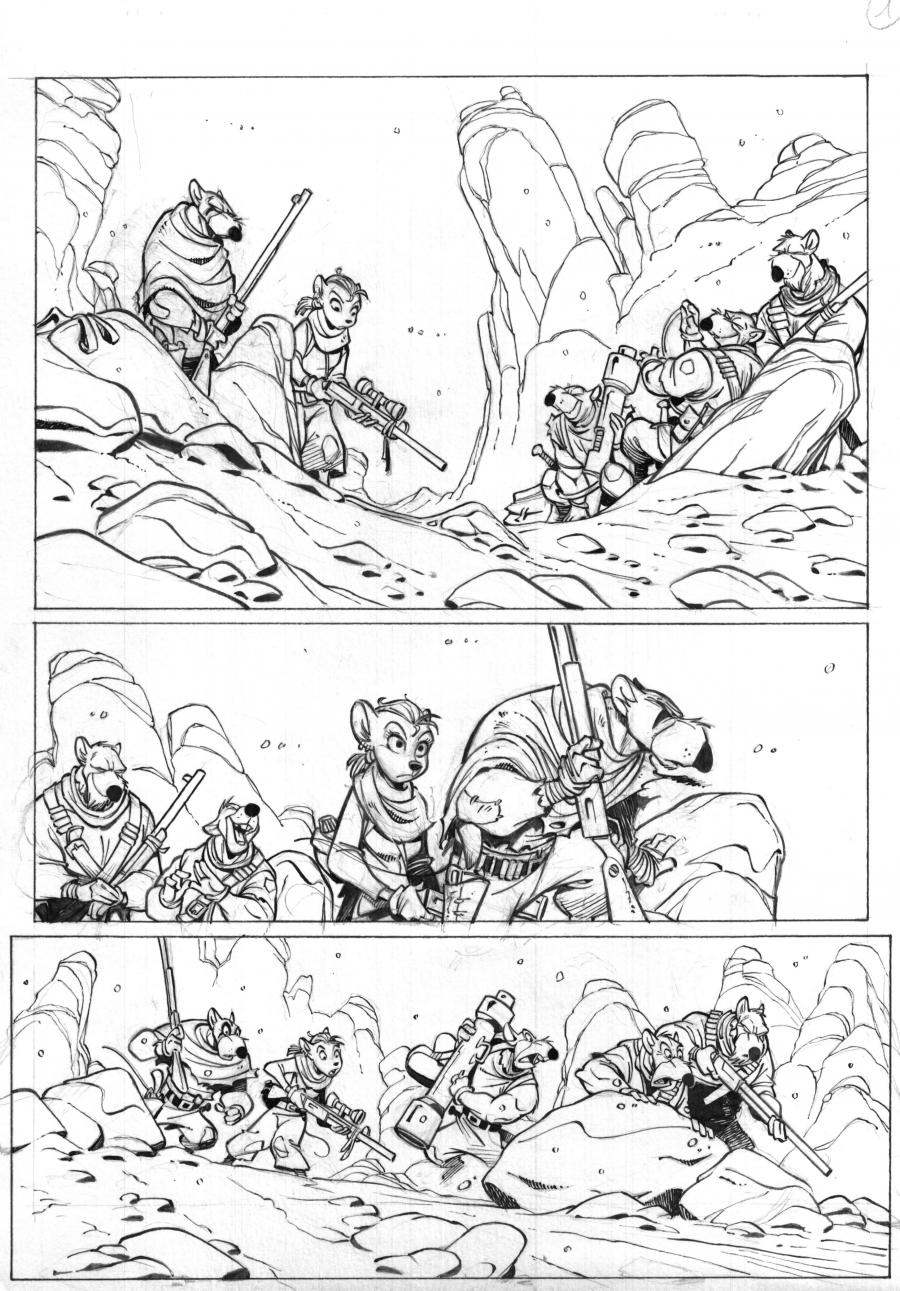 SOLO Original Comic's page 3 Issue 2 by Oscar Martin