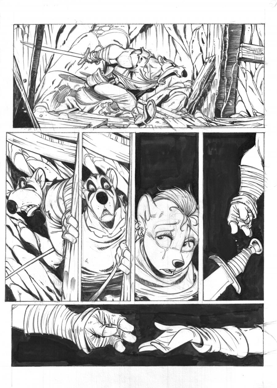 SOLO Original comic's page 71 Issue 2 by Oscar MARTIN