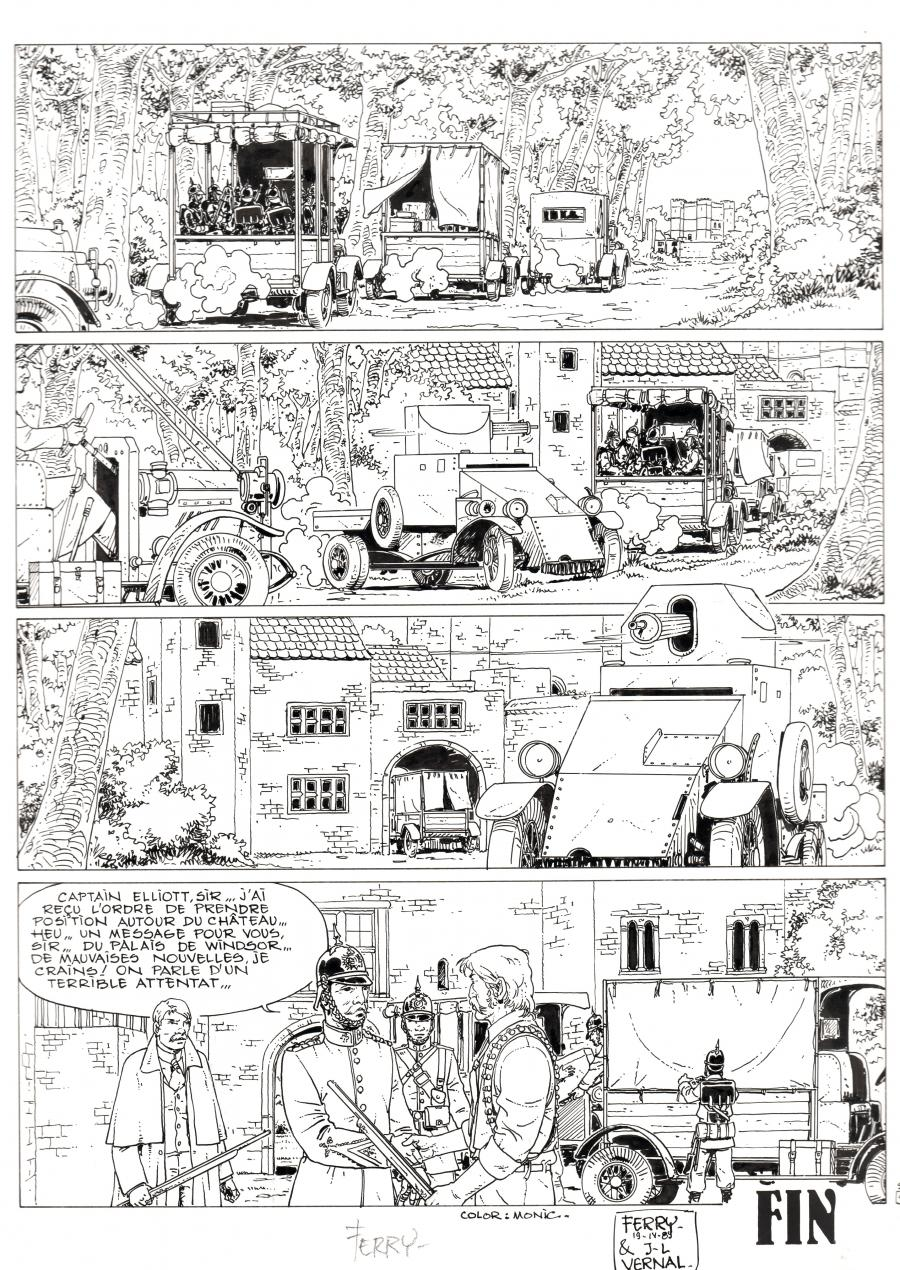 Original comic page 45 from IAN KALEDINE, Issue 8 by FERRY