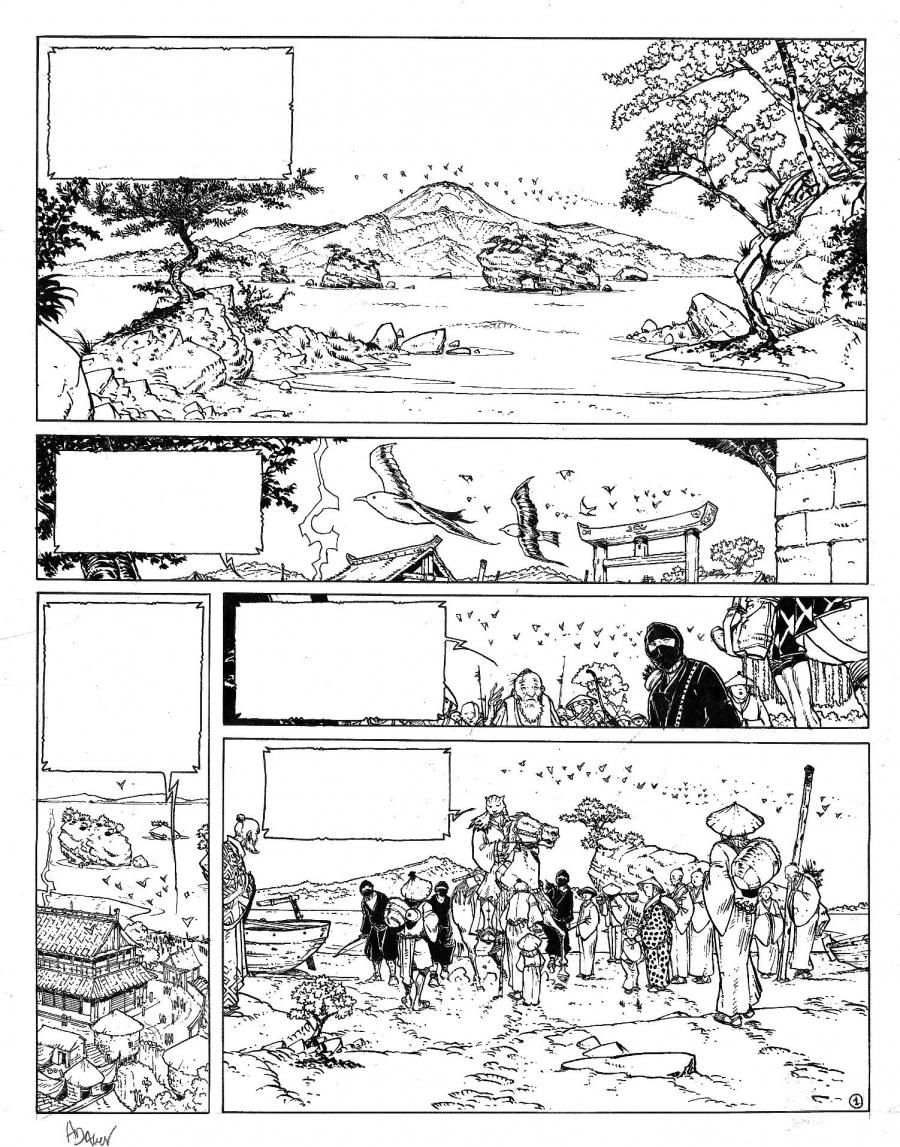 Original comic Page 1, Issue 5 from Le vent des dieux by Philippe ADAMOV